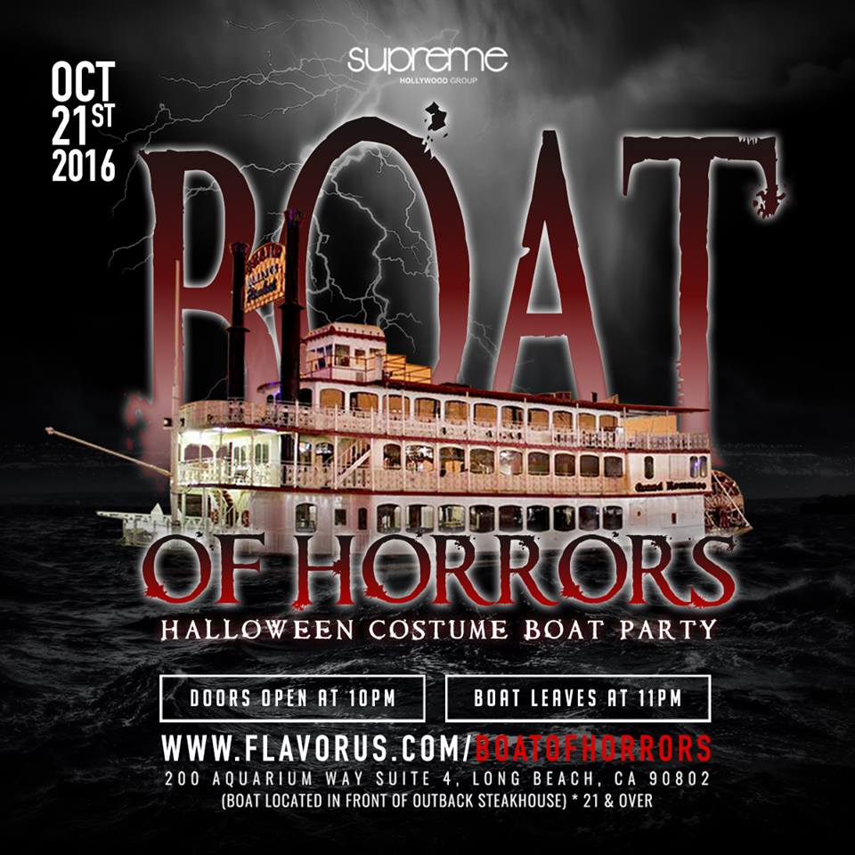 THE 2016 BOAT OF HORRORS BOAT PARTY Tickets 10/21/16