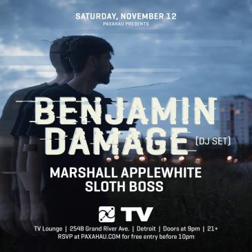 Paxahau Presents: Benjamin Damage (Free w/ RSVP): Main Image