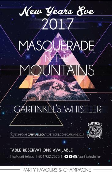 Masquerade In The Mountains NYE 2017