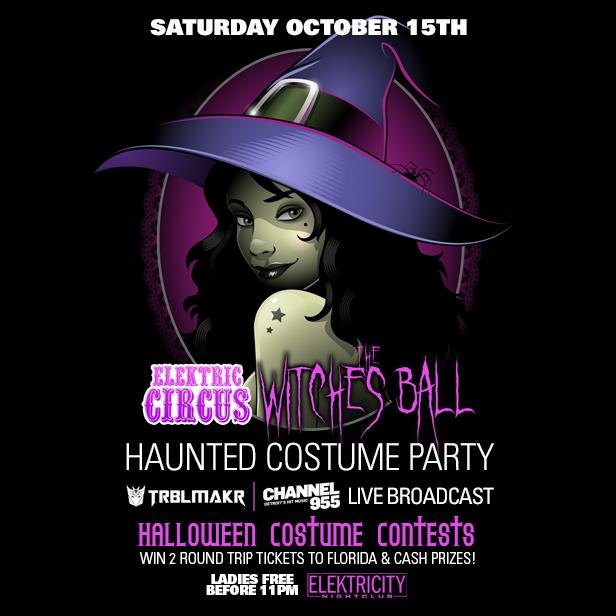 Elektric Circus Witches Ball Tickets 10 15 16