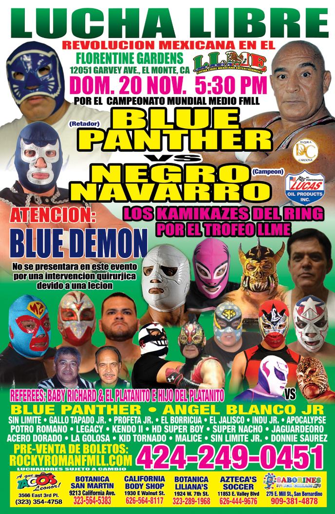 Lucha Libre Mexicana Tickets 11/20/16
