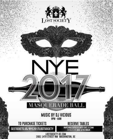 Lost Society NYE - 2017 Masquerade Party: Main Image
