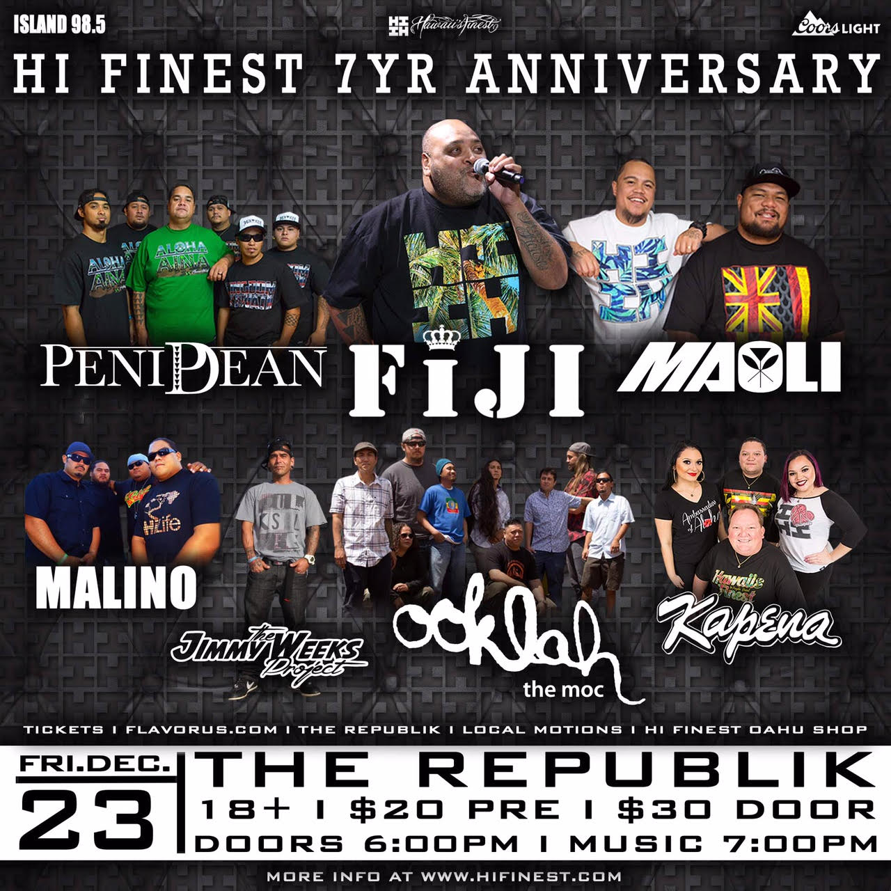 hawaii 39 s finest 7 year anniv tickets 12 23 16