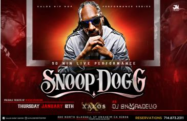 SNOOP DOGG LIVE: Main Image