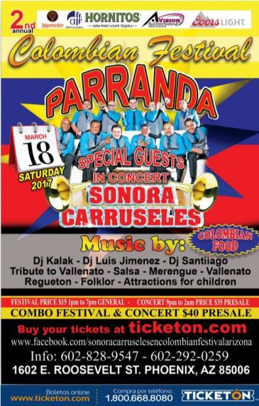 SONORA CARRUSELES EN COLOMBIAN FESTIVAL - ARIZONA: Main Image