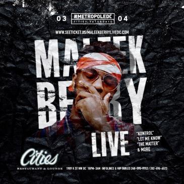 MALEEK BERRY LIVE @METROPOLEDC-img