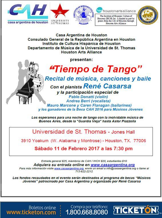 Boletos Para Tiempo De Tango En Houston