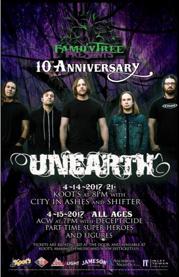 Unearth Live in Concert (21+): Main Image