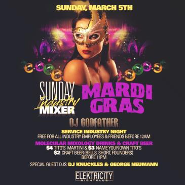 SUNDAY INDUSTRY MIXER || MARDI GRAS: Main Image