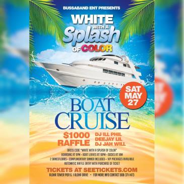 White With A Splash Of Color: Yacht Party: Main Image