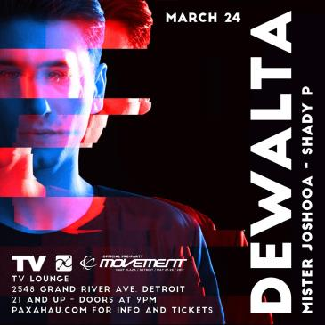 Paxahau Presents: DeWalta - Official Movement Pre-Party: Main Image