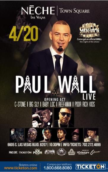 PAUL WALL LIVE IN LAS VEGAS: Main Image