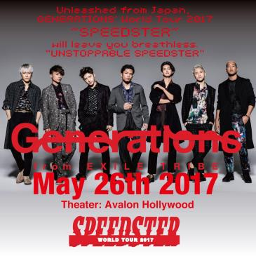 GENERATIONS from EXILE TRIBE WORLD TOUR 2017 ~SPEEDSTER~-img