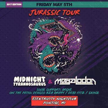 JURASSIC TOUR W/ MIDNIGHT TYRANNOSAURUS & MEGALODON: Main Image