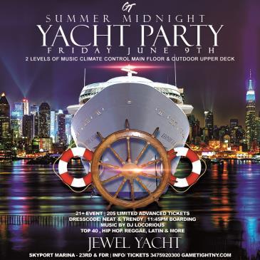 Summer Midnight Yacht Party at Skyport Marina Jewel Yacht: Main Image