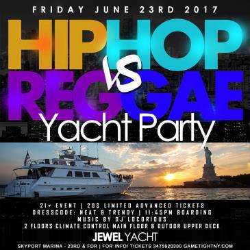 Hip Hop VS. Reggae Yacht Party at Skyport Marina Jewel Yacht: Main Image