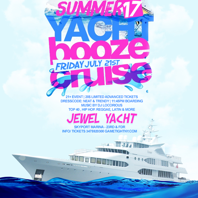 Get Tickets To NYC Booze Cruise At Jewel Yacht Skyport Marina At - How much is a cruise ship ticket