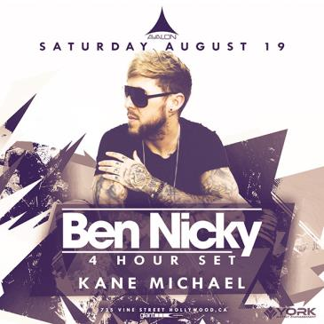 Ben Nicky - 4 Hour Set, Kane Michael: Main Image