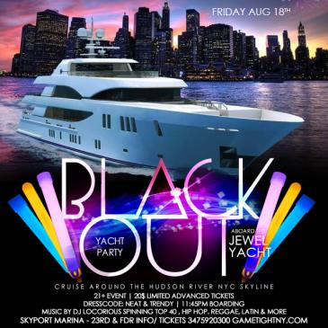 NYC Blackout Yacht Party at Skyport Marina Jewel Yacht: Main Image