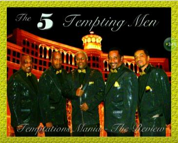 Tribute to Motown with 5 Tempting Men: Main Image