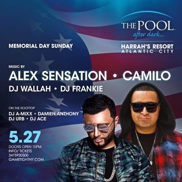 MDW Dj Camilo Harrahs Pool Party Pool After Dark in AC 2017: Main Image
