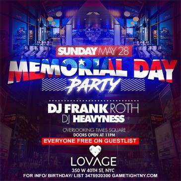 Lovage NYC MDW Memorial Day Weekend 2017 Everyone FREE-img
