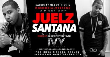 Juelz Santana at Ivy Nightclub Memorial Day Weekend 2017: Main Image