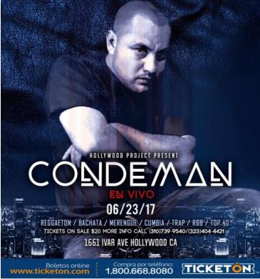 CONDEMAN LIVE AT PROJECT FRIDAYS: Main Image