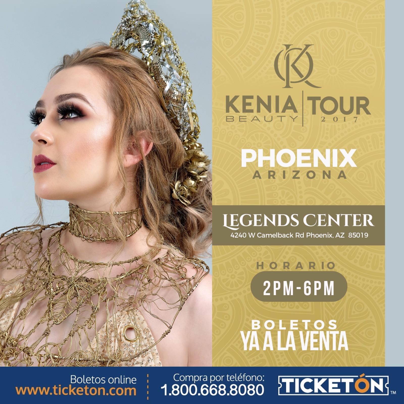 Boletos Para Kenia Beauty Live Tour En Phoenix