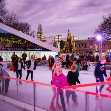 Ice Skating in Cathedral Square
