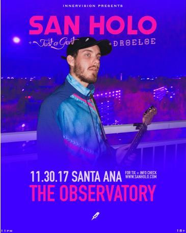 SAN HOLO @ The Observatory OC: Main Image