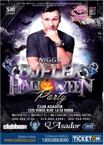 DJFLEX HALLOWEEN PARTY: Main Image