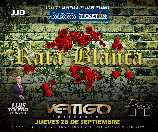 Rata Blanca Houston Tickets Boletos Vertigo Club