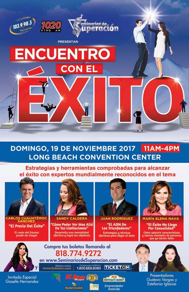 Encuentro Con El Exito Long Beach Tickets Boletos Convention