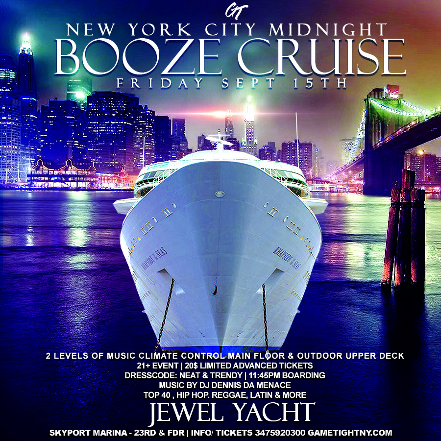 NYC Booze Cruise Party at Skyport Marina Jewel Yacht