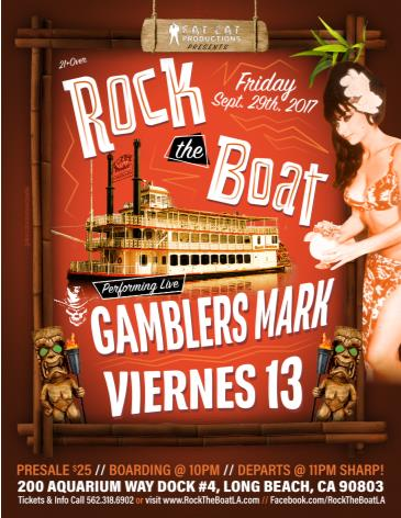 Viernes 13 & Gamblers Mark @ Rock The Boat!: Main Image