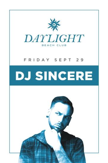 Sincere at DAYLIGHT Beach Club: Main Image