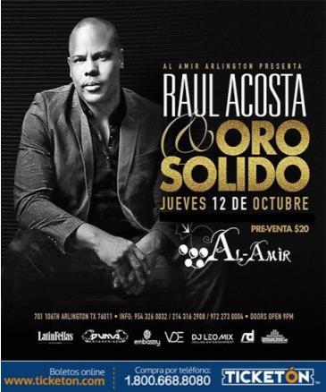 RAUL ACOSTA Y ORO SOLIDO - DALLAS: Main Image