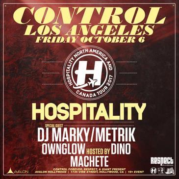 HOSPITALITY: DJ Marky, Metrik, Ownglow, MC Dino, Machete: Main Image