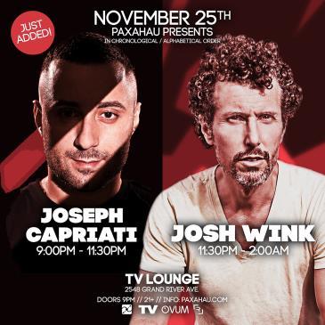 Paxahau Presents:  Joseph Capriati & Josh Wink: Main Image