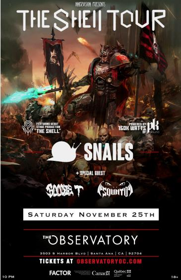SNAILS at The Observatory OC: Main Image