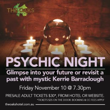 Psychic Night with Kerrie Barraclough: Main Image