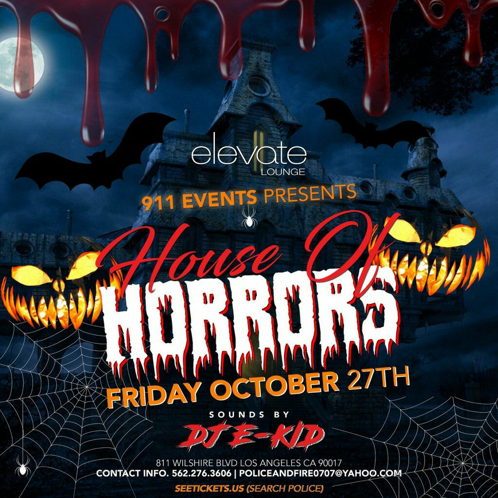 Elevate Los Angeles Halloween 2020 10th Annual 911 Annual Halloween Party Tickets 10/27/17