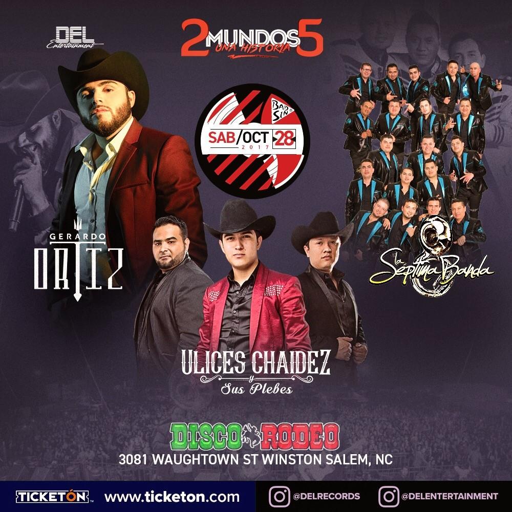 Gerardo Ortiz Winston Salem Tickets Boletos Disco Rodeo