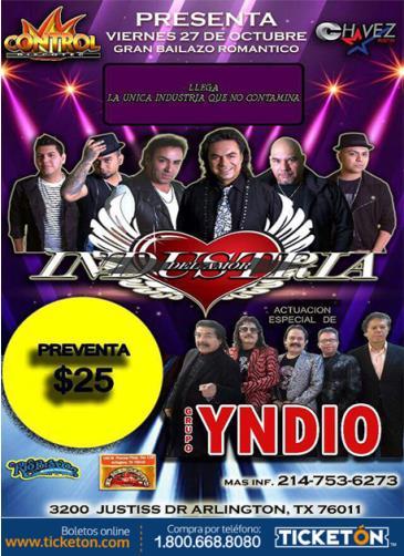 INDUSTRIA DEL AMOR Y GRUPO YNDIO: Main Image
