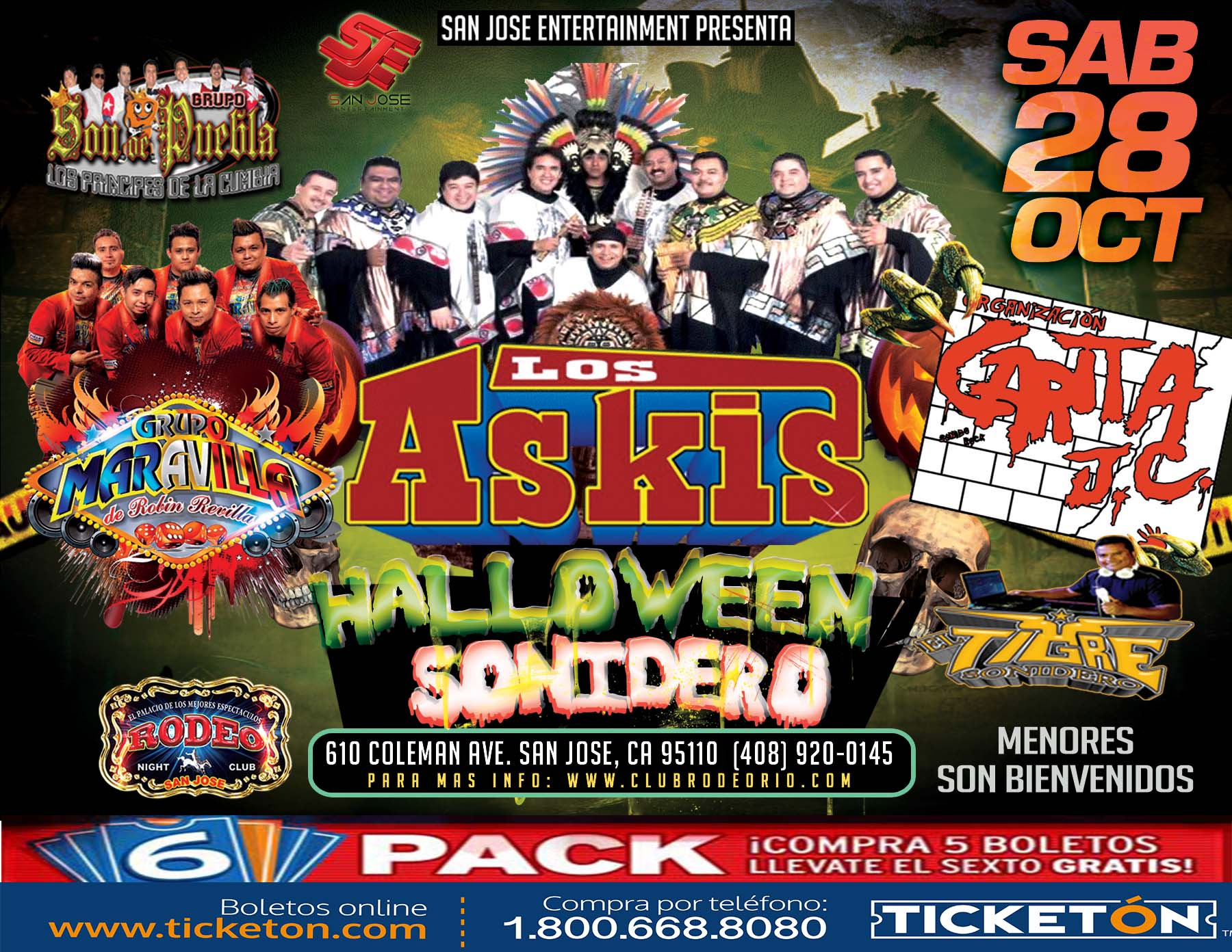 Los Askis San Jose Tickets Boletos Rodeo Nightclub