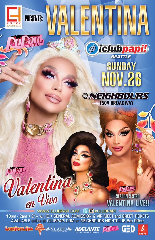Valentina Rupauls Drag Race Tickets 112617