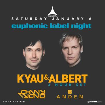 Euphonic Records: Kyau & Albert, Anden, Johnny Yono: Main Image