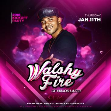 Walshy Fire of Major Lazer Live at Ohm Nightclub: Main Image