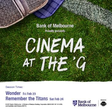 Wonder - Cinema at the 'G: Main Image